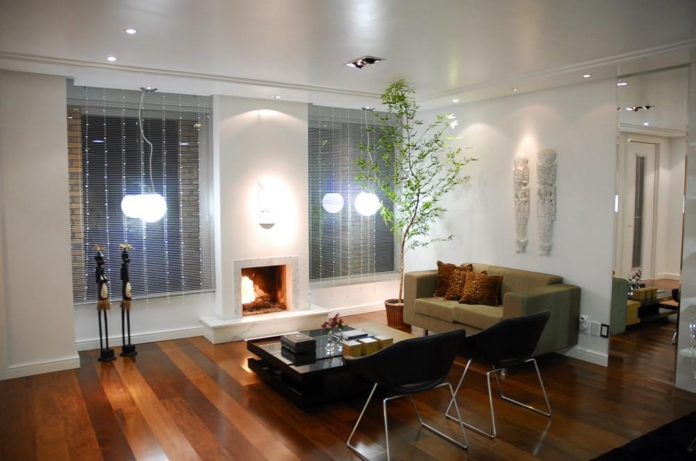 Imagens Sala De Estar Com Lareira ~ Meu Palácio de 64m² Sala com Lareira decorada