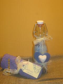 idee regalo con sali profumati fai da te - idee regalo low cost - gessi profumati e feltro