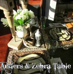 Antlers & Zebra Table