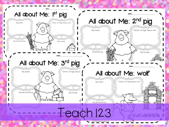 Fairy Tale 3 Little Pigs Teach123 – Three Little Pigs Worksheets Kindergarten