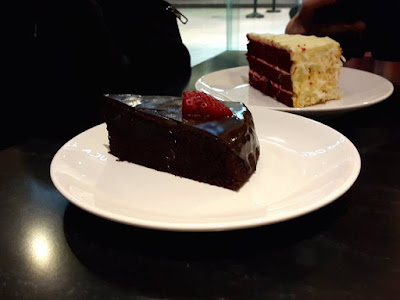 Chocolate and Red Velvet Cake at Dean & Deluca Far East Square