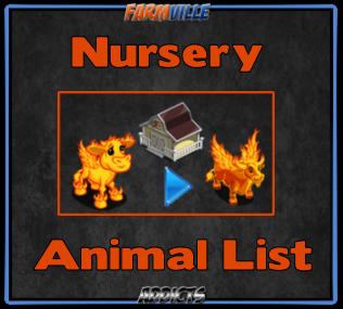 Nursery Animal List