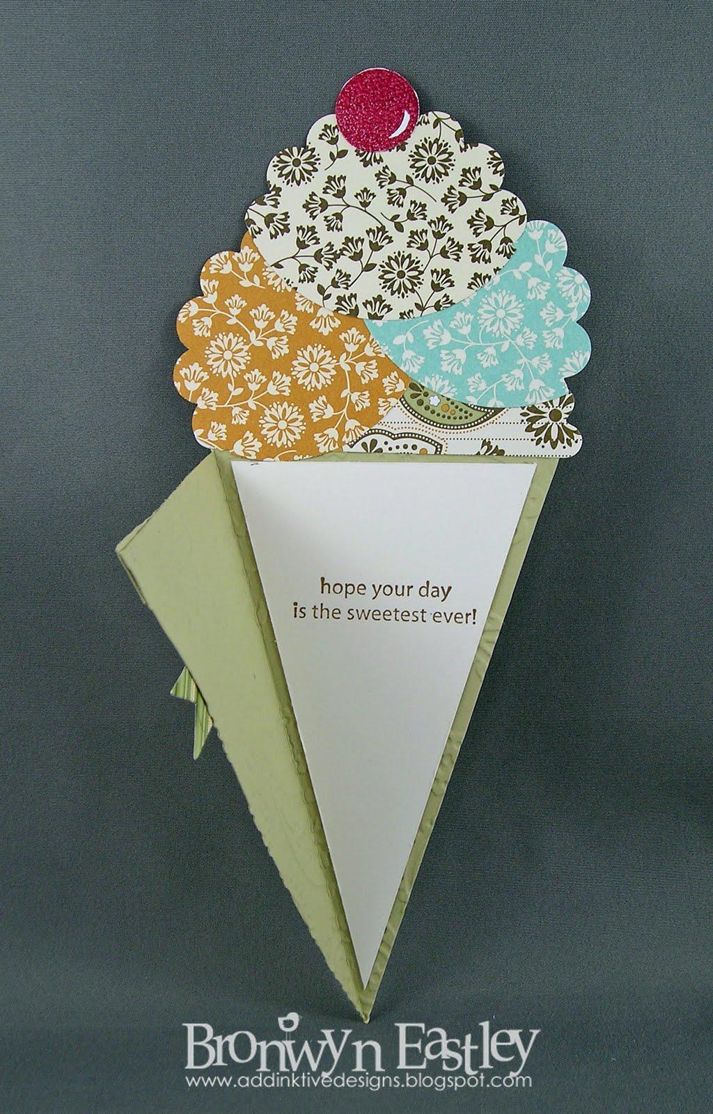 Addinktive Designs At Blogger Spice Cake Icecream Cone Card