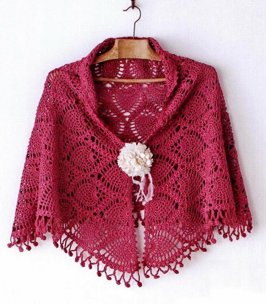Crochet Shawl Wrap Pattern - capelet