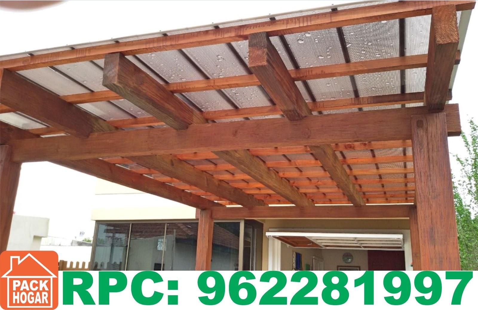 Construcci n de techos en madera en lima per for Modelos de terrazas en madera