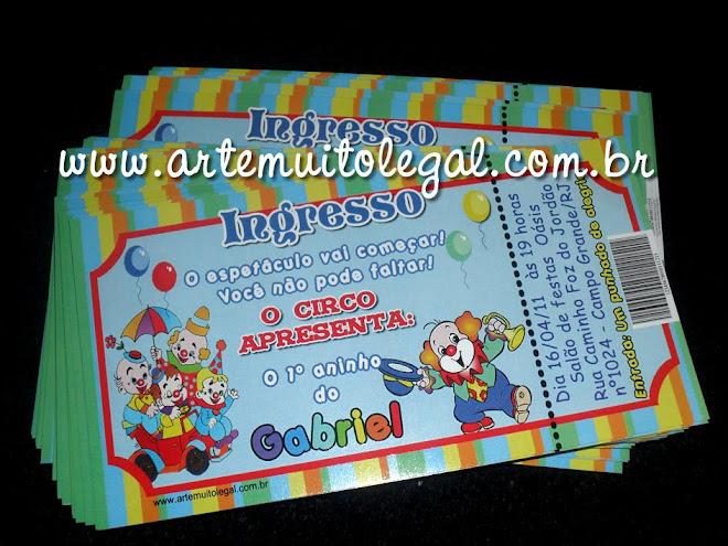 Convites infantis e lembrancinhas personalizadas Arte muito legal
