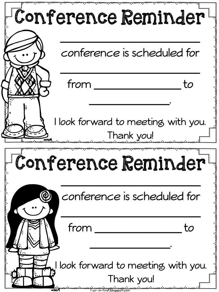 parent teacher conference time and must have freebies