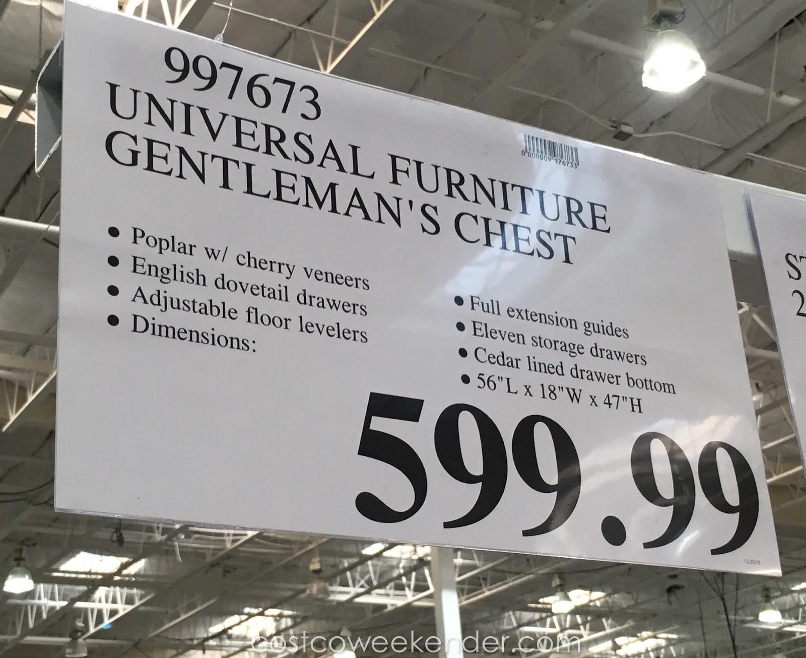 Universal Furniture Broadmoore Gentleman s Chest