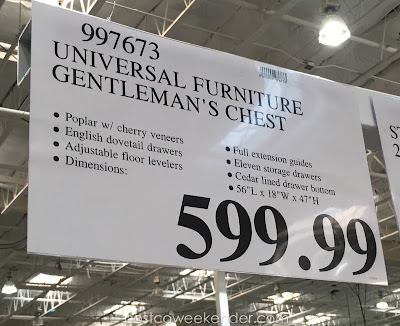 Deal for the Universal Furniture Broadmoore Gentleman's Chest at Costco