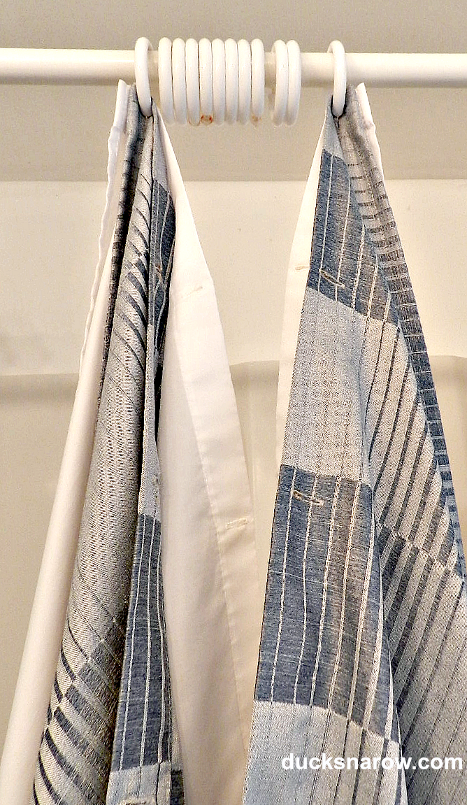 Start by hanging the extreme ends first. #shower #curtain