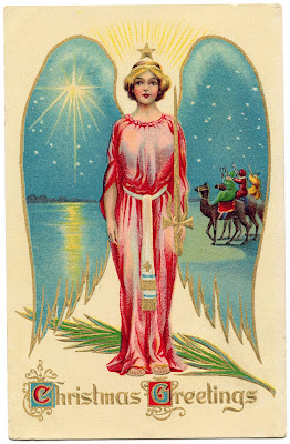Vintage Christmas Image - Angel