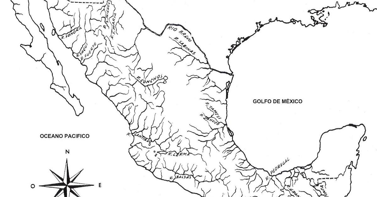 Mapa de México Orográfico, hidrográfico con / sin nombres - CGsign ...