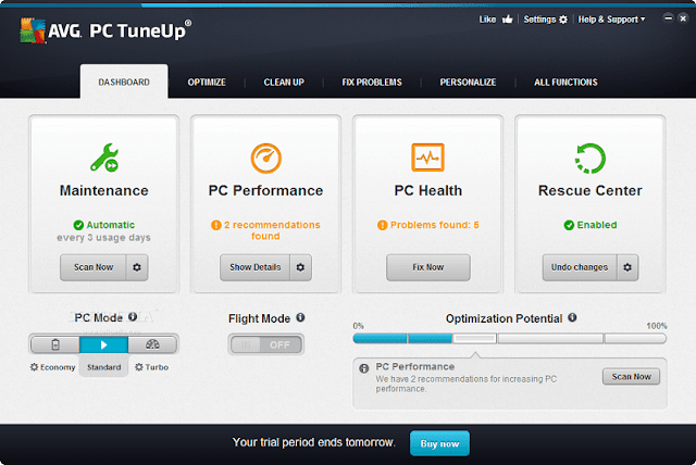 AVG PC TuneUp Screenshot