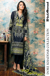 Linen And Dore Khaddar Collection 2016