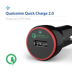 [Qualcomm Certified] Anker PowerDrive+ 1 (Quick Charge 2.0 24W USB Car Charger) for Galaxy S6 Edge Plus, Note 5 4 Edge, Nexus 6, Xperia Z3 Z2, Samsung Fast Charge Qi Wireless Charging Pad and More