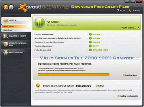 free avast antivirus registration key
