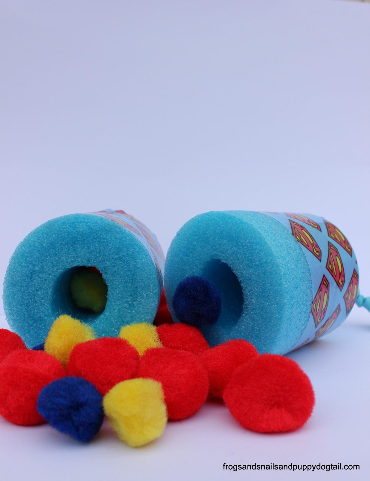 Superhero pool noodle pom pom shooter fspdt for Hero central vbs crafts