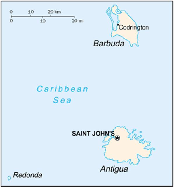 mapa de antigua y barbuda, mapa político de antigua y barbuda, mapa grande antigua y barduda, historia de antigua y barbuda