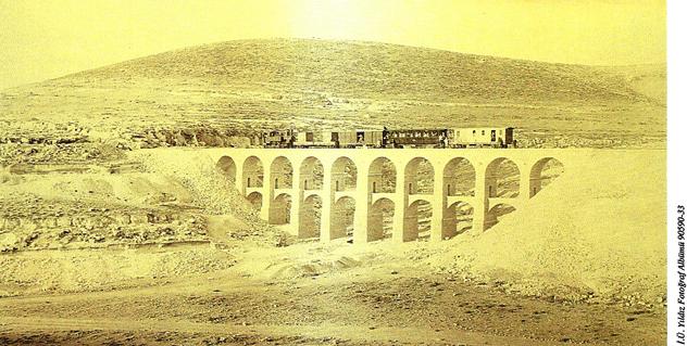 Hicaz Demiryolu Hattının, Amman - Maan hattındaki Büyük Köprü (1903)