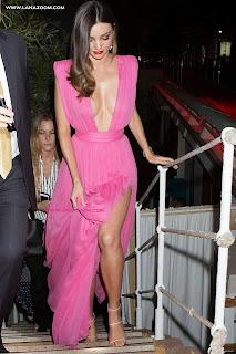 الجميلة ميراندا كير بفستان وردي مثير خلال حضورها حفل في مهرجان كان