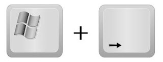 [Logo Windows] + [Freccia a destra]
