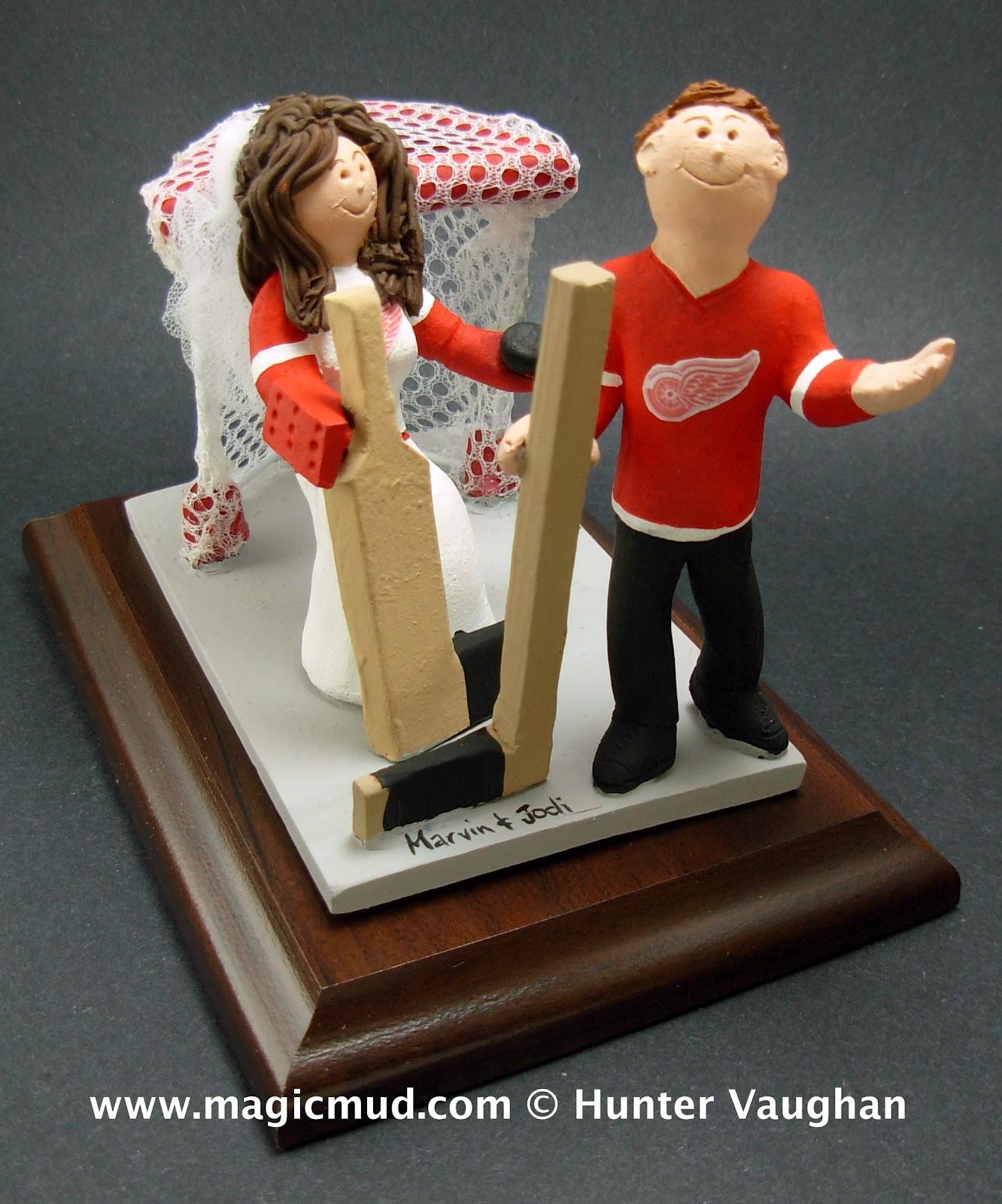 Hockey Goalie Bride Wedding Cake Topper Custom Wedding Cake Toppers