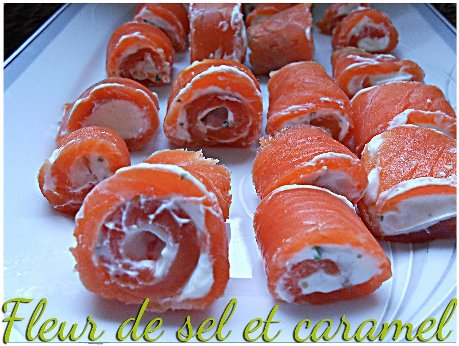 Roulés de saumon tartare