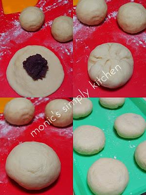 cara buat roti gepeng kacang merah