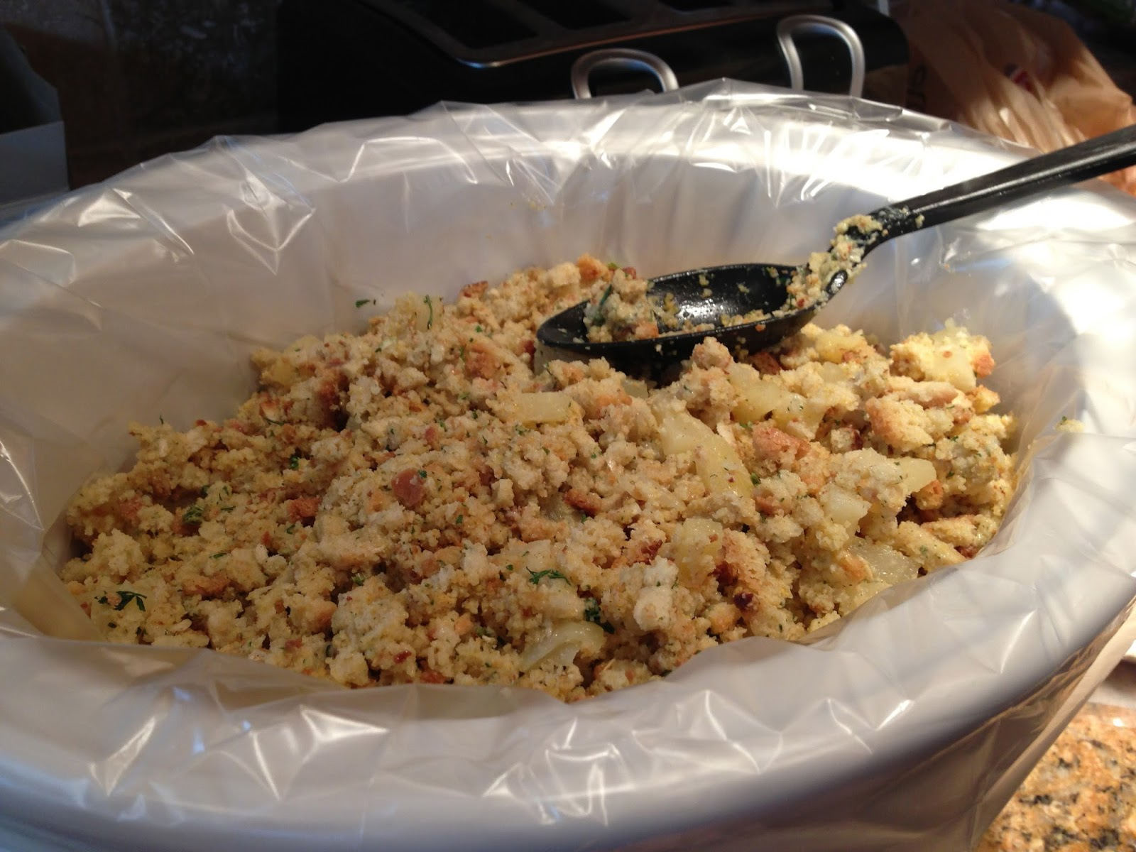 how to cook stuffing in a crock pot
