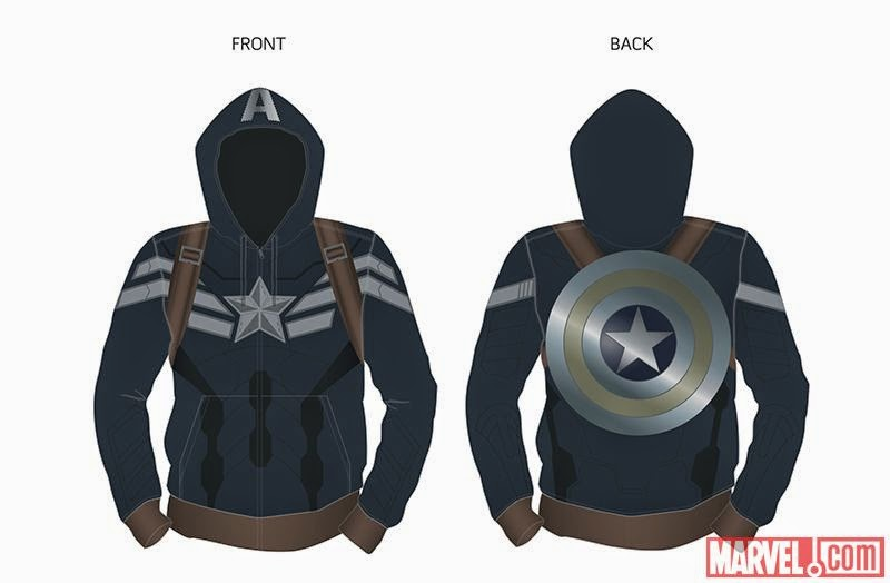 "San Diego Comic-Con 2014 Exclusive Captain America: The Winter Soldier Hoodies by Marvel - Captain America ""Stealth"" Hoodie"
