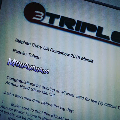 Stephen Curry Under Armour Road Show Manila 2015 Ticket