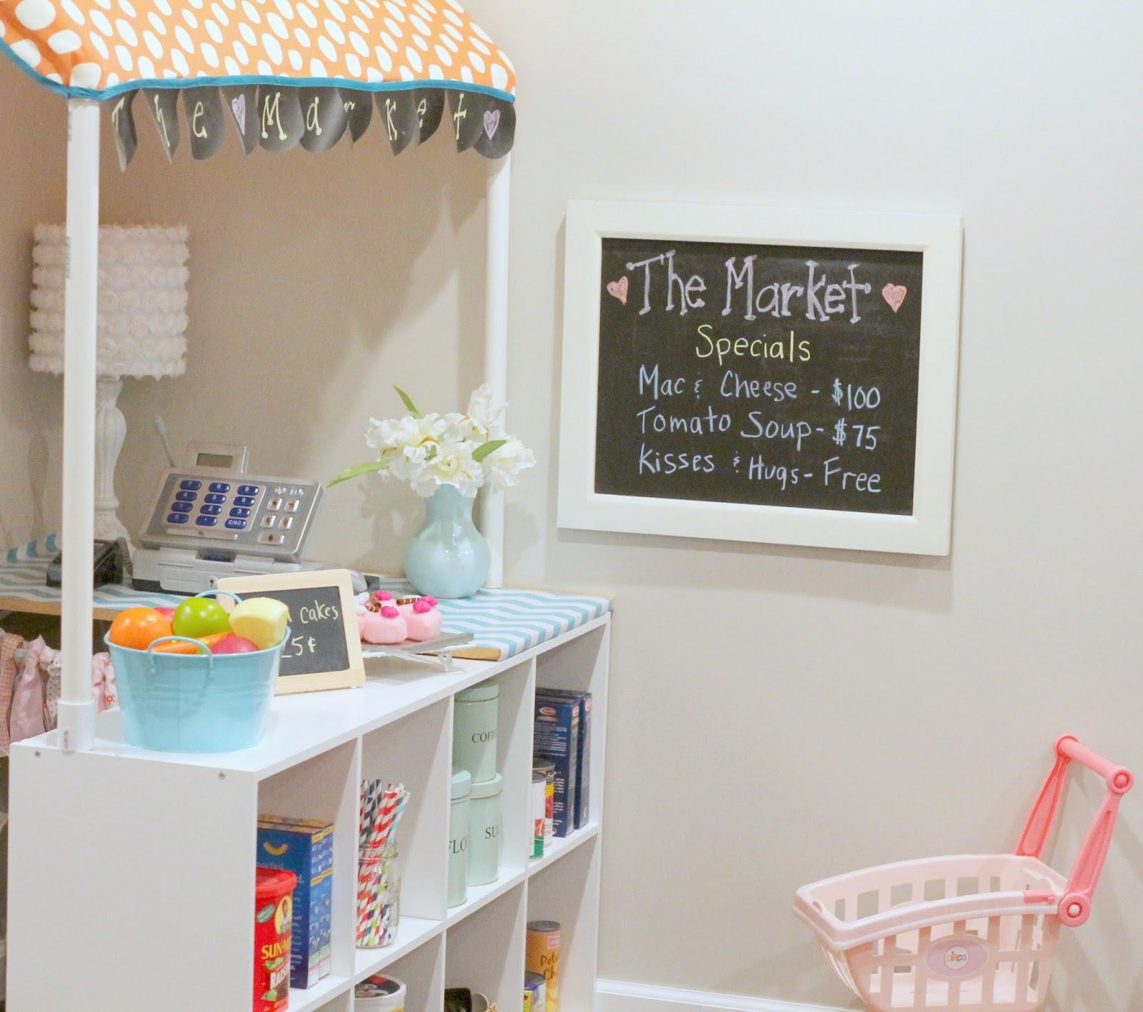 The market grocery store for kids with pvc for Family home storage