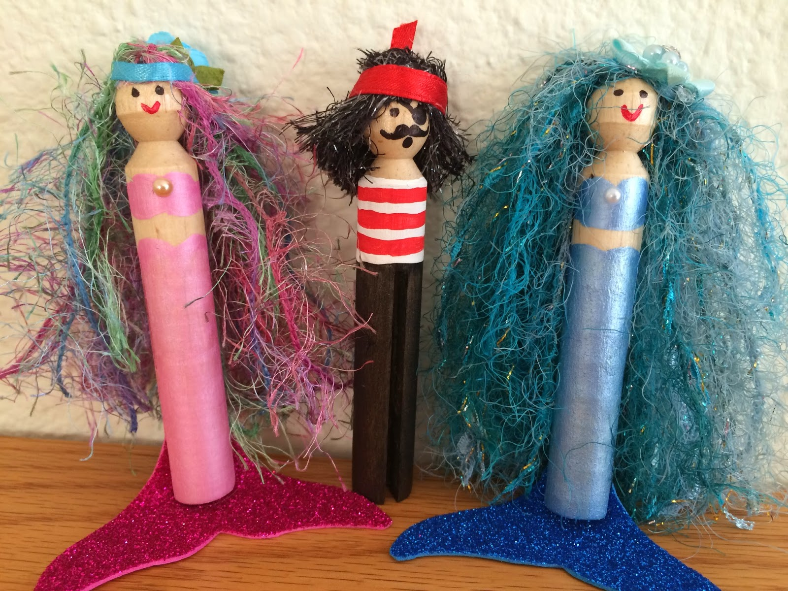 Kathy 39 s angelnik designs art project ideas clothespin for Mermaid arts and crafts