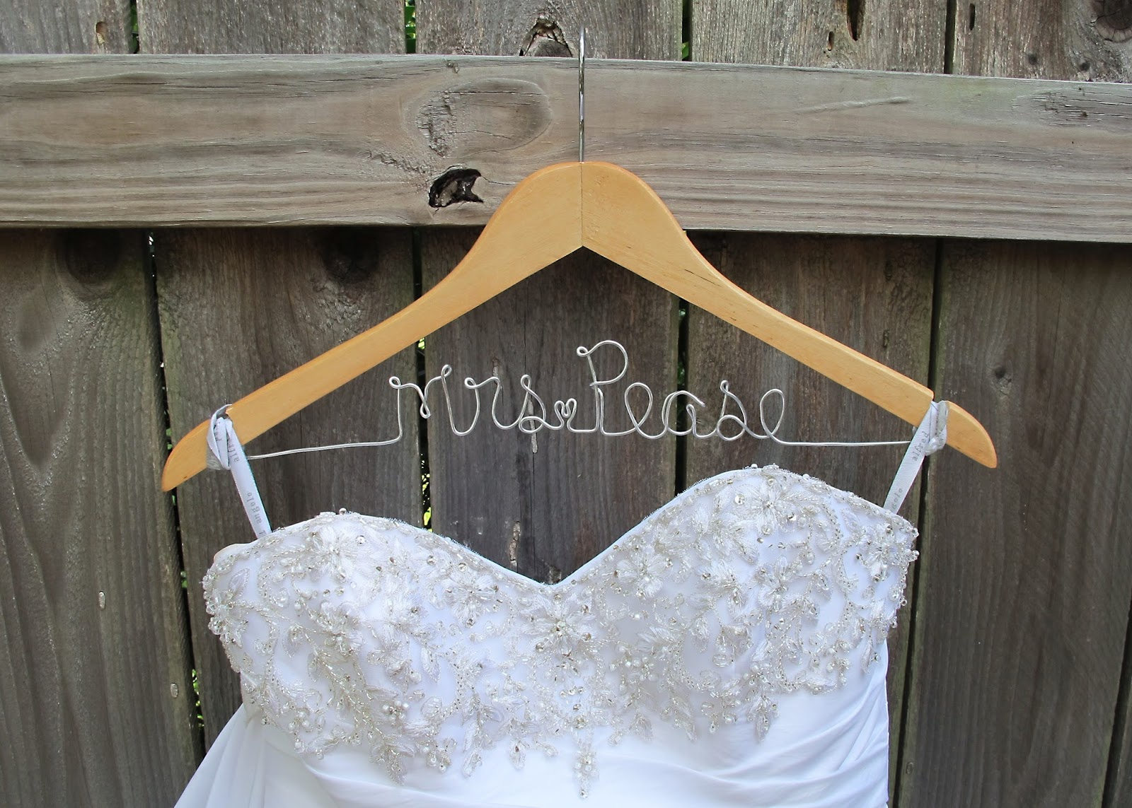 Custom Wedding Dress Hangers 16 Inspirational DIY Wedding Name Hanger