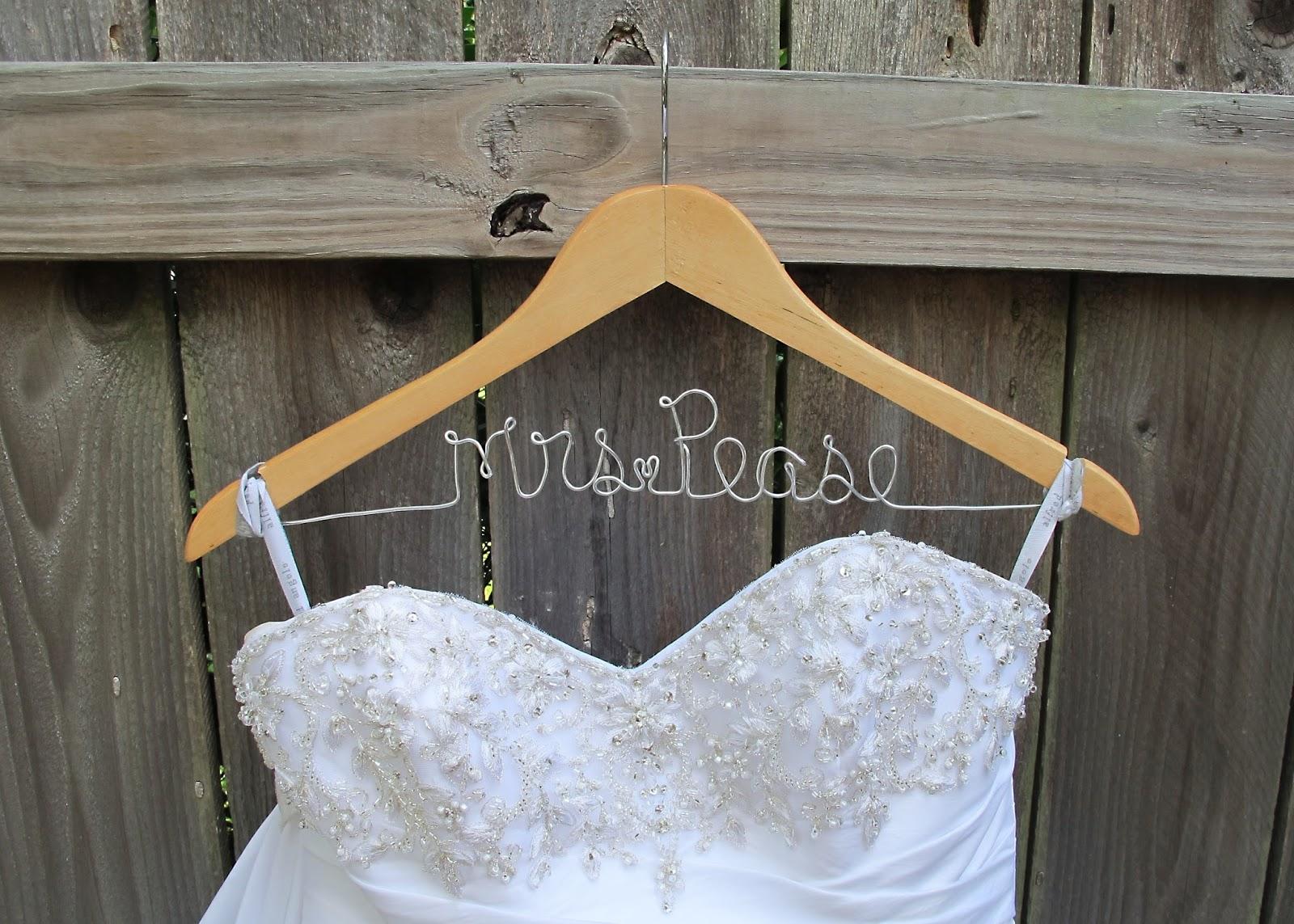 Diy bridal wedding hangers