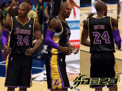 NBA 2K13 New Lakers Black Alt Jerseys Mod