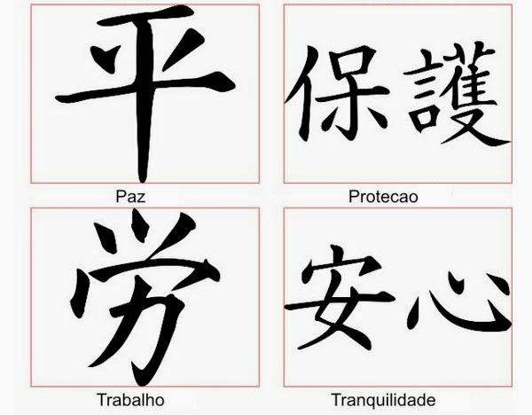 significado tattoo em chinês