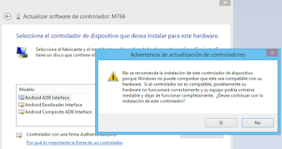 Instalación de Android ADB Interface