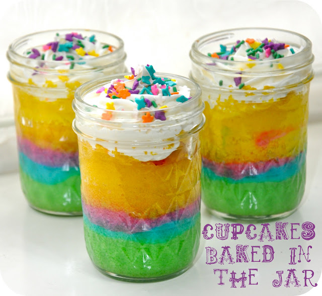 Cupcakes in a jar!