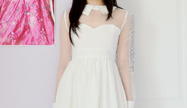 More photos of the white mesh-paneled sweetheart neckline dress from Fanewant (nicedress.storenvy.com).