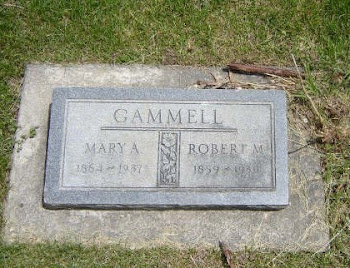 Grave of Robert and Mary Ann Gammell