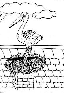Desenho do avestruz para colorir