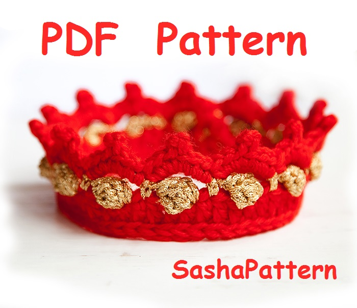 Sasha Patterns Crochet Baby Crown Pattern Easy Level Crochet Baby