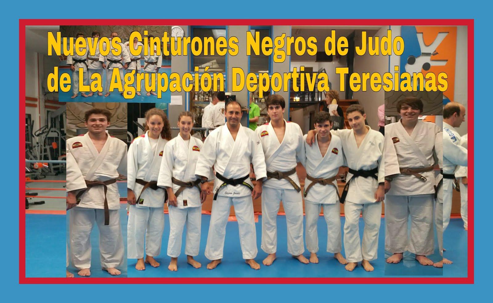 NUEVOS CINTURONES NEGROS DE JUDO JULIO 2015