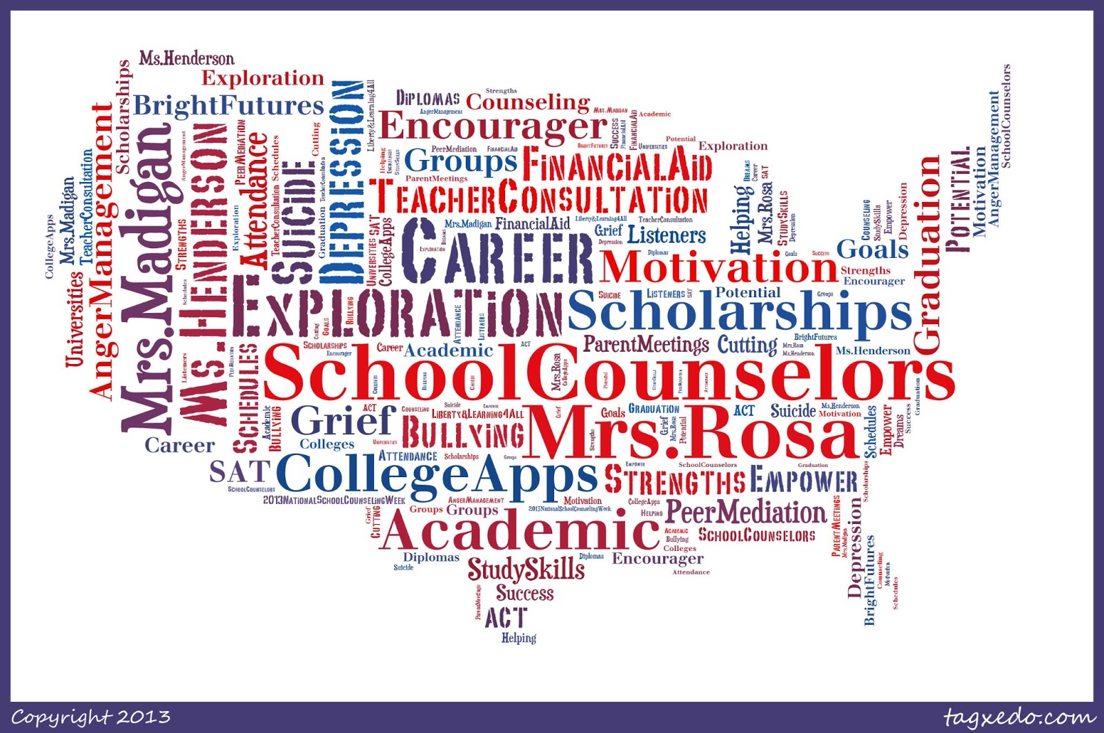 The Resourceful School Counselor: Word Splash