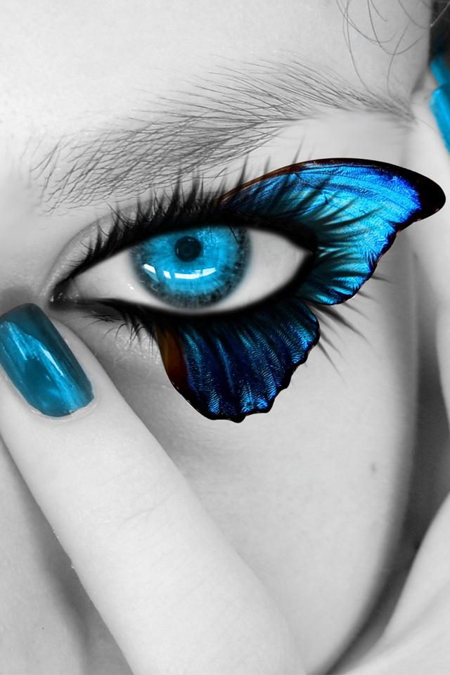 Iphone+4s+Eye+ +Butterfly En Güzel İphone 4s Resimleri