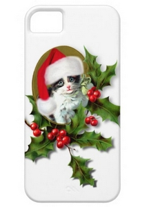 Cute Kitten christmas iphone 5 case