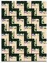 Quilt Pattern - Fuzzy Fence Rail (flannel rag quilt)