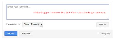 Hướng dẫn làm hộp comment blogger dofollow