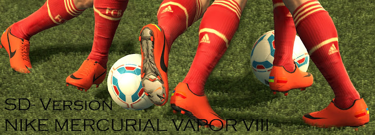 PES 2012 Nike Mercurial Vapor VIII Mango Grey by fcb1719